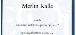 Merlin Kalle kutsetunnistus nr 105735